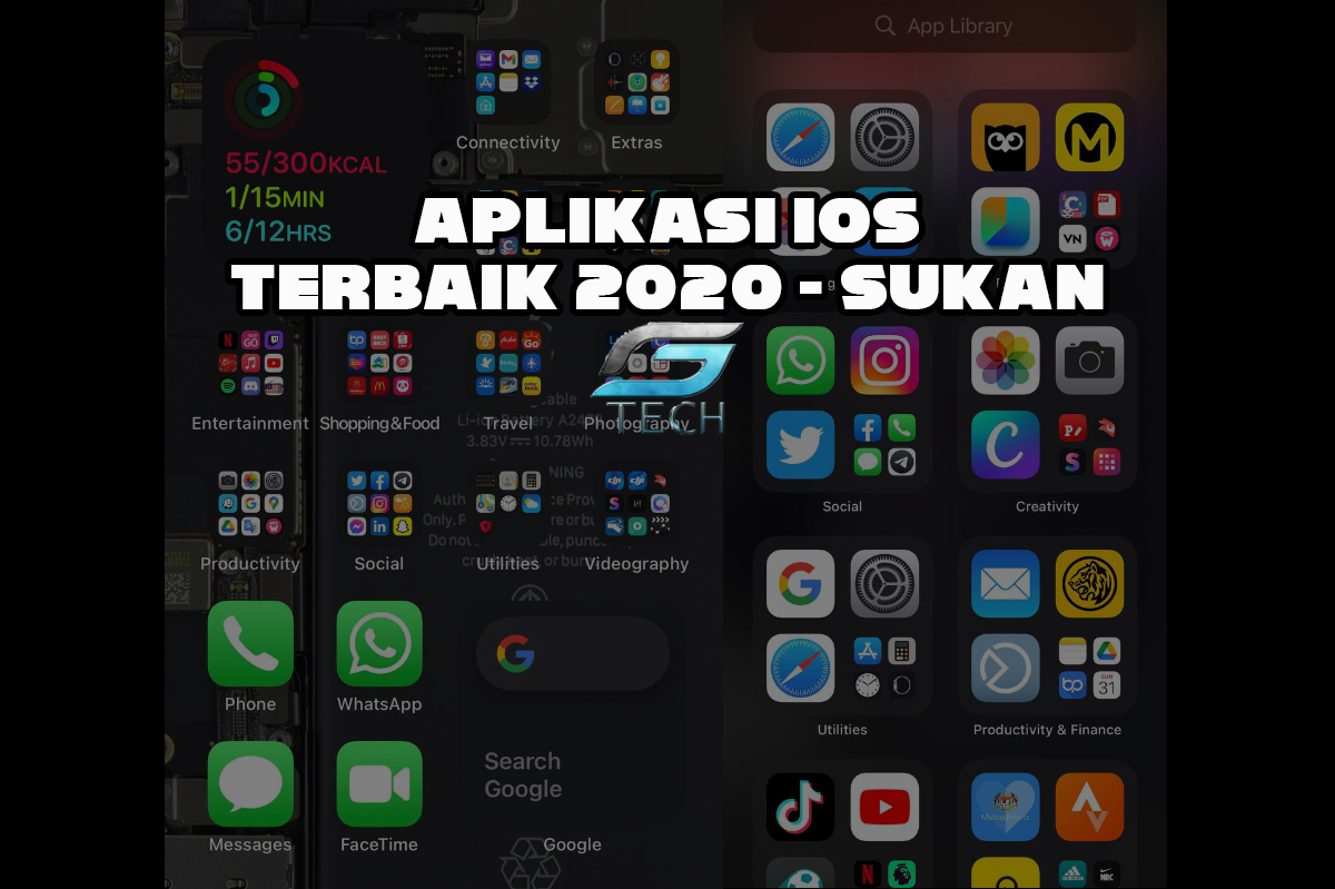 Aplikasi iOS Terbaik 2020 -Sukan, Foto Sentrum Tech
