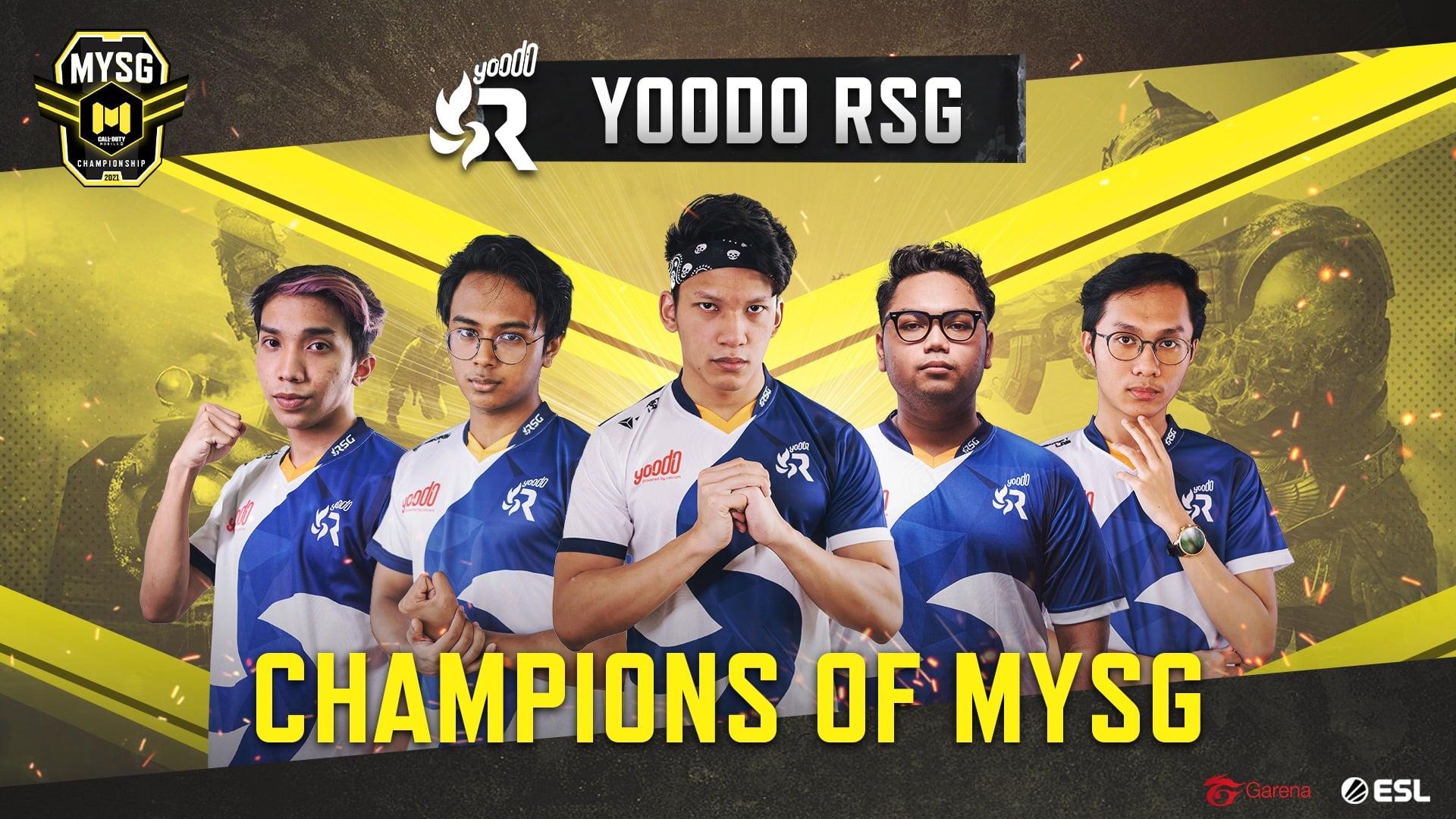 Yoodo RSG muncul juara kejohanan Call of Duty Mobile (CODM) MYSG Championship 2021 selepas menewaskan wakil Singapura, Divinity.Uprising